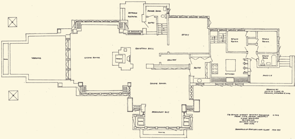 1st floor plan growing up in a frank lloyd wright house Frank lloyd wright house floor plans