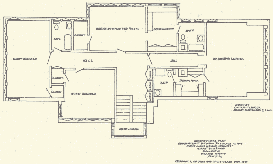 Floor Plan 2nd floor 2002_0001 940x565 frank lloyd wright house plans,Small Frank Lloyd Wright House Plans