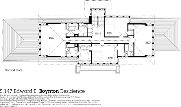2nd floor plan overview growing up in a frank lloyd Frank lloyd wright house floor plans